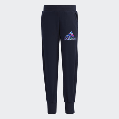 Girls Training Blue French Terry Pants