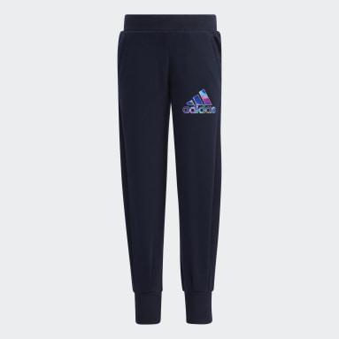 Pantaloni French Terry Blu Ragazza Fitness & Training