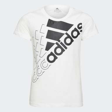 Camiseta Essentials Logo Blanco Niña Sportswear