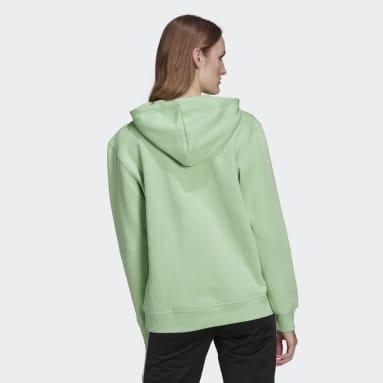 Hoodie adicolor Essentials Fleece Verde Donna Originals