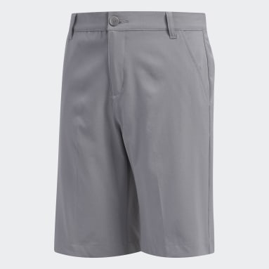 Boys Golf Grey Solid Golf Shorts