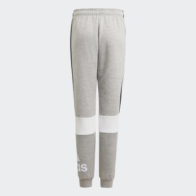Boys Sport Inspired Grey adidas Essentials Colorblock Pants