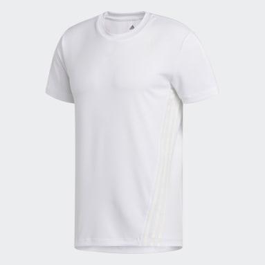 белый Футболка для фитнеса AEROREADY 3-Stripes