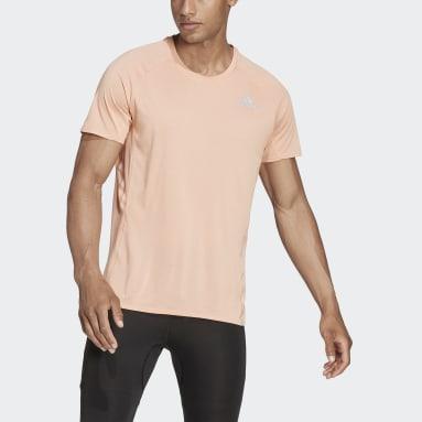 Muži Běh růžová Tričko Runner