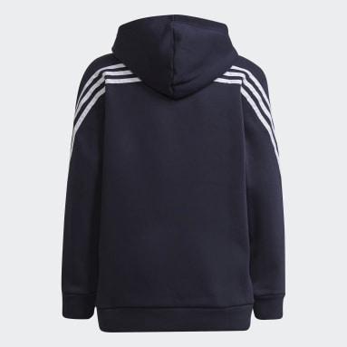 Girls Fitness Og Træning Blå Marimekko Primegreen 3-Stripes hættetrøje