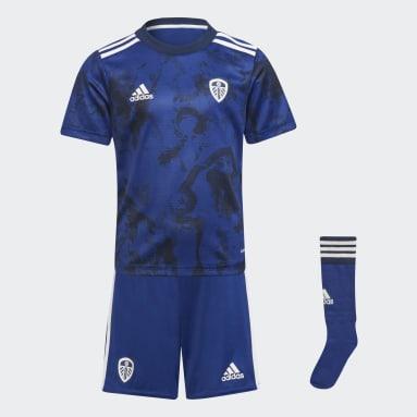 Kids 4-8 Years Football Blue Leeds United FC 21/22 Away Mini Kit