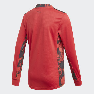 Boys Football Red Germany Home Goalkeeper Jersey