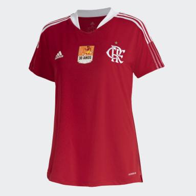 Camisa Flamengo 30 anos da Copa Feminina Vermelho Mulher Futebol