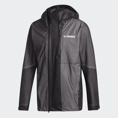 Herr TERREX Svart Terrex Waterproof Primeknit Rain Jacket