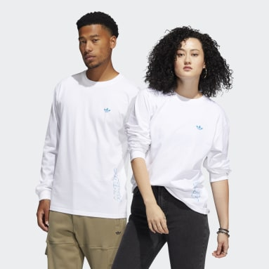 Maglia Speed Graphic Long Sleeve (Neutral) Bianco Originals