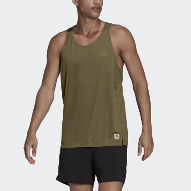 T-shirt sans manches Made To Be Remade Running Vert Hommes Running