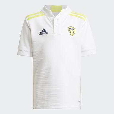 Kinderen Voetbal Wit Leeds United FC 21/22 Mini-Thuistenue