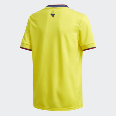 Youth Soccer Yellow Colombia Home Jersey