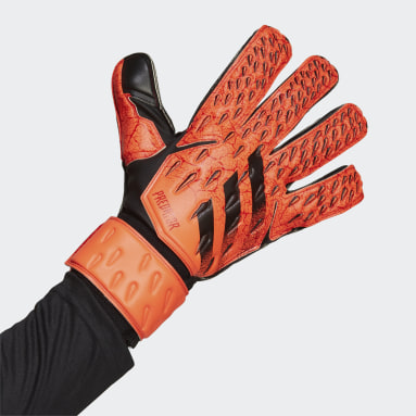 Football Orange Predator Match Goalkeeper Gloves