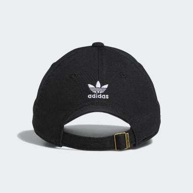 Women's Originals Black Relaxed Strap-Back Hat