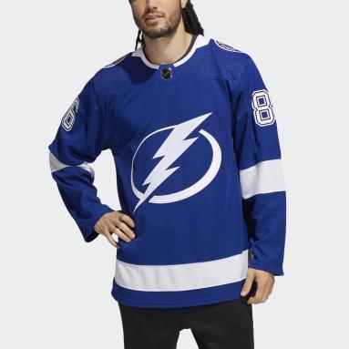 синий Оригинальный хоккейный свитер Lightning Кучеров