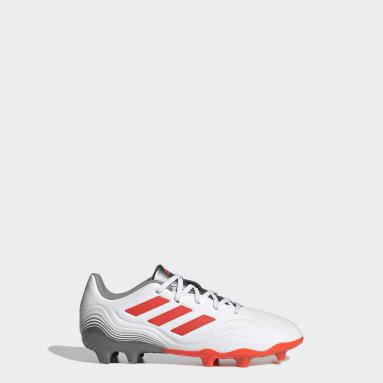 Kids Football White Copa Sense.3 Firm Ground Boots