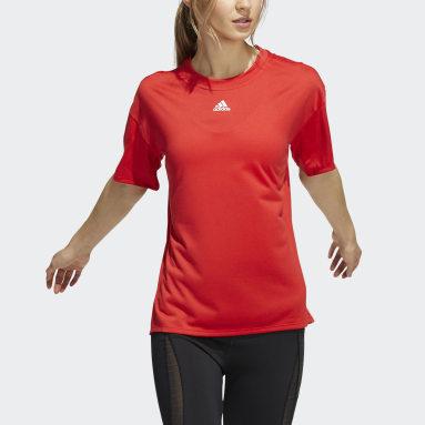Women Training Red Training 3-Stripes AEROREADY Tee