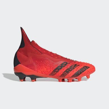 Football Red Predator Freak+ Artificial Grass Boots