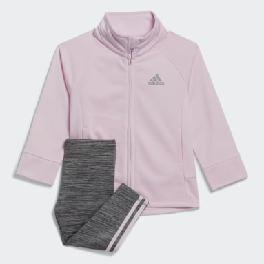 Infant & Toddler Training Pink Twirl Tricot Jacket and Tights Set