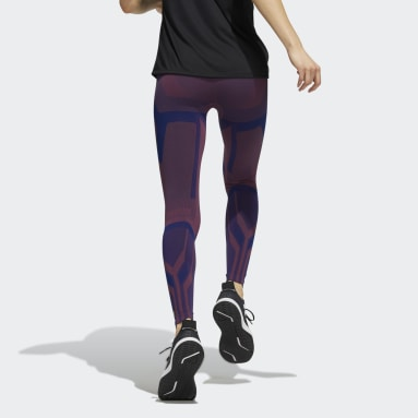 Women's Yoga Burgundy Formotion Sculpt Two-Tone Tights