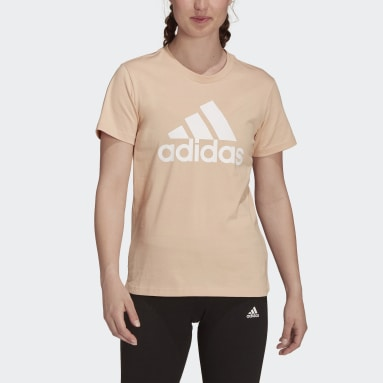 Women Sport Inspired Pink LOUNGEWEAR Essentials Logo Tee