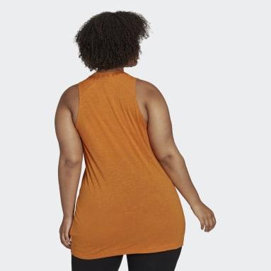 Women Sportswear Orange adidas Sportswear Winners 2.0 Tank Top (Plus Size)