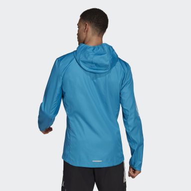 Giacca a vento Own the Run Hooded Turchese Uomo Running