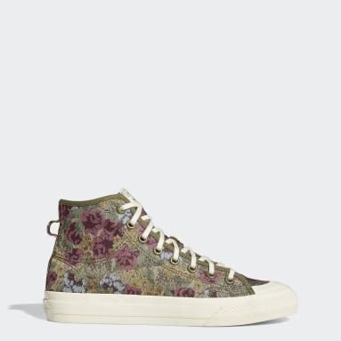 Chaussure Nizza Hi RF Vert Originals
