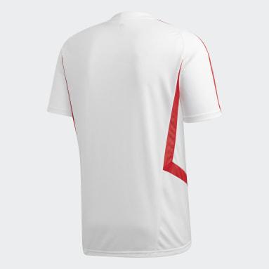 Men Football White Arsenal Training Jersey