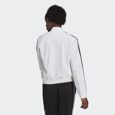 Women's Essentials White Essentials 3-Stripes Track Jacket