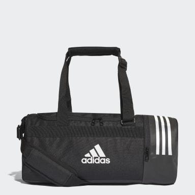 Basketball Black Convertible 3-Stripes Duffel Bag Small
