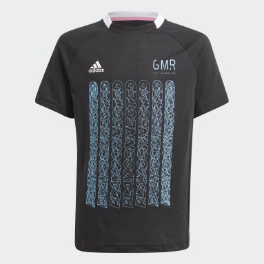 Youth 8-16 Years Gym & Training Black Gaming Football-Inspired Jersey
