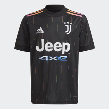 Camisa 2 Juventus 21/22 Preto Meninos Futebol