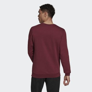 Sweat-shirt Essentials Fleece 3-Stripes Bordeaux Hommes Sport Inspired