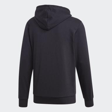 Herr Sportswear Svart Essentials 3-Stripes Track Jacket