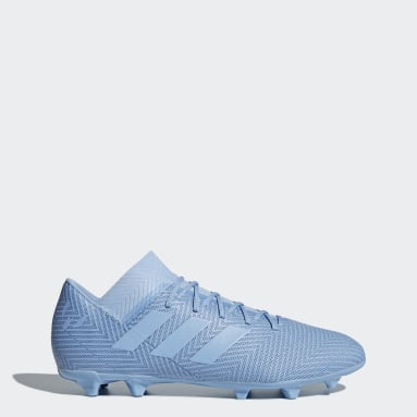 Calzado de fútbol Nemeziz Messi 18.3 césped natural seco Azul Hombre Fútbol