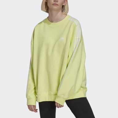 Dames Originals Geel Adicolor Classics Oversized Sweatshirt