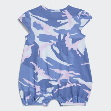 Infant & Toddler Training Blue Shortie Print Rompers