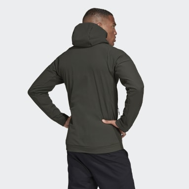 Cortavientos con capucha Terrex Hi-Loft Soft Shell Verde Hombre TERREX