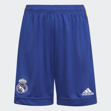 Short Away 21/22 Real Madrid Blu Bambini Calcio