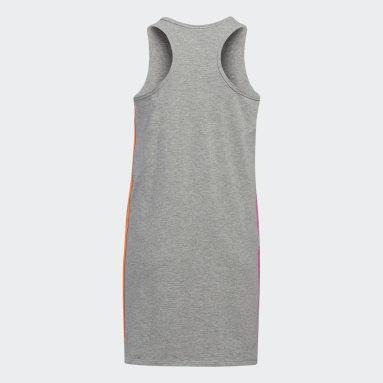 Youth Training Grey Stripe Tank Dress