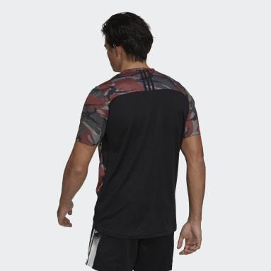 Playera Designed to Move Camo Logo  AEROREADY Rojo Hombre Training
