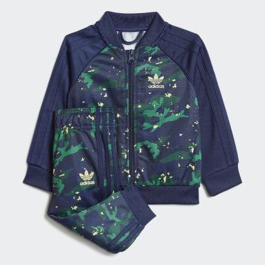 Conjunto chaqueta y pantalón SST Camo Print Azul Niño Originals