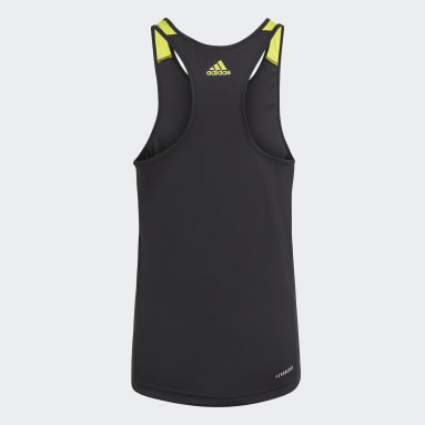 Girls Lifestyle Black adidas Designed To Move Leopard Tank Top