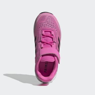 Children Trail Running Pink Terrex Agravic Flow Primegreen Trail-Running Shoes