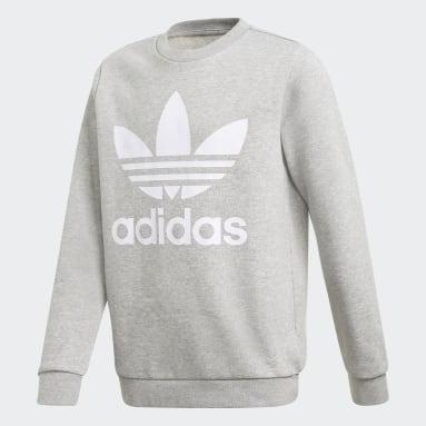 Sweatshirt Trefoil Cinzento Criança Originals