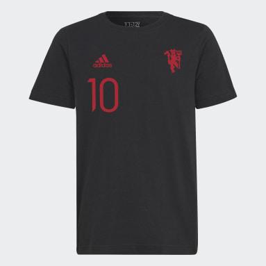 Camiseta Manchester United Graphic Negro Niño Fútbol