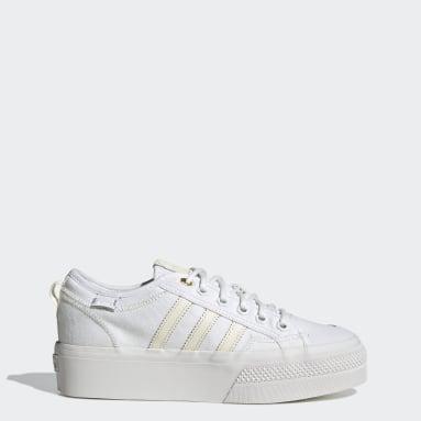 Frauen Originals Nizza Platform Schuh Weiß
