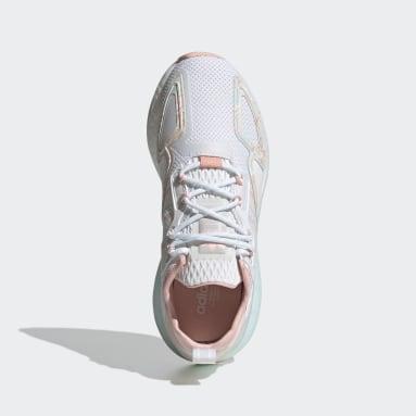 Girls Originals White ZX 2K Boost Shoes